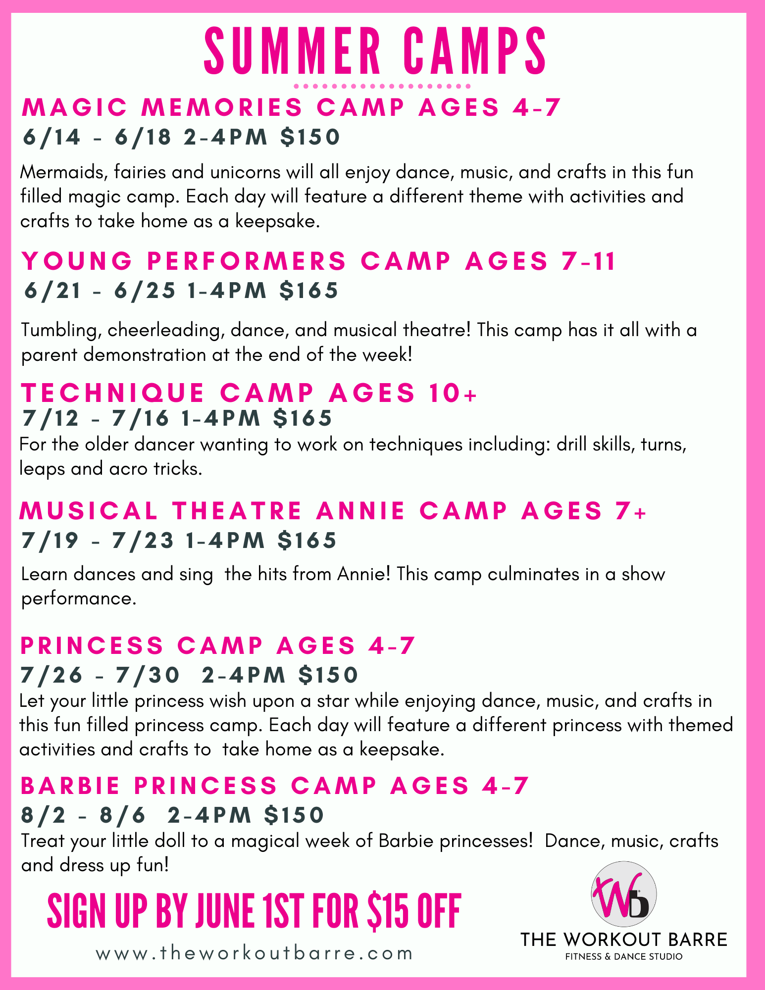 Copy of Copy of summer camp flyers